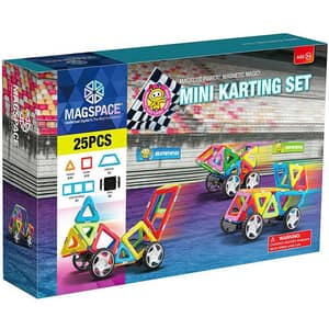 Joc constructie magnetic MAGSPACE Mini Karting, 3 ani +, 25 piese