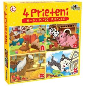 Puzzle NORIEL 4 Prieteni mici NOR2464, 3 ani+, 50 piese