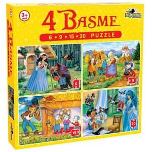 Puzzle NORIEL 4 Basme NOR2457, 3 ani+, 50 piese