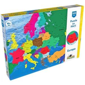 Puzzle NORIEL Harta Europei NOR2808, 4 ani+, 100 piese