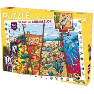 Puzzle NORIEL Lumea vesela - Regatul animalelor NOR3058, 3 ani+, 240 piese