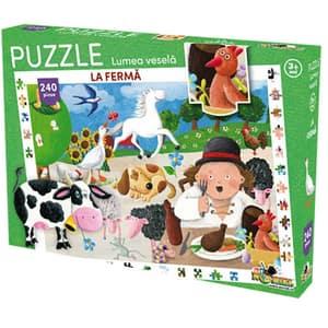 Puzzle NORIEL Lumea vesela - La ferma NOR3096, 3 ani+, 240 piese