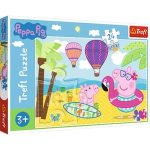Puzzle TREFL Peppa Pig in vacanta 14293, 3 ani+, 24 piese