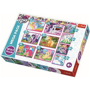 Puzzle 10 in 1 TRELF My little Pony 90353, 4 ani+, 329 piese