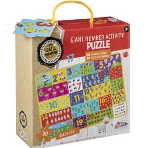 Puzzle cu piese mari GRAFIX Activitati cu numere RG7835, 3 ani+, 30 piese