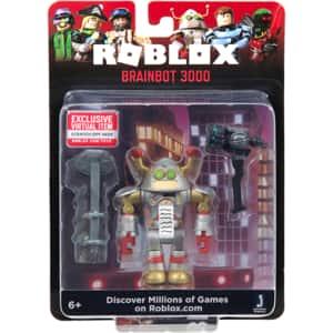 Figurina ROBLOX Core S7 - Brainbot 3000 ROB0302, 6 ani+, argintiu-auriu