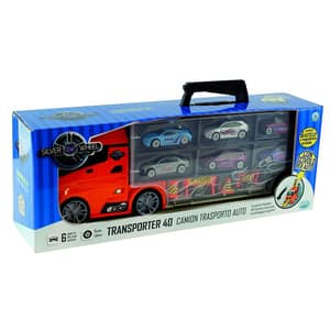 Camion auto SILVER WHEEL 41401J: 6 masini + semne rutiere, 3 ani+, multicolor