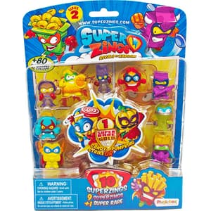 Set 10 figurine SUPERZINGS Seria 2 SZ2005, 3 ani+, multicolor