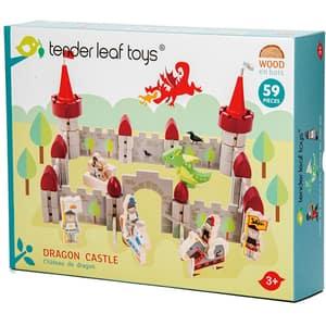 Joc constructie TENDER LEAF Castelul dragonului TL8322, 3 ani+, 59 piese