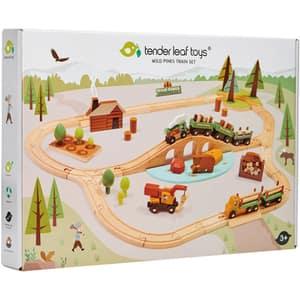 Set trenulet TENDER LEAF Wild pines cu accesorii TL8702, 3 ani+, maro-verde