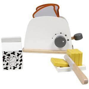 Jucarie de rol TRYCO Toaster cu accesorii TR-303002, 3 ani+, alb-gri