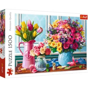 Puzzle TREFL Glastre cu flori 26157, 12 ani+, 1500 piese