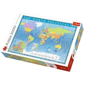 Puzzle TREFL Harta politica a lumii 27099, 12 ani+, 2000 piese