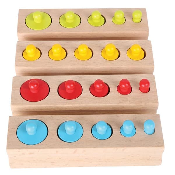 Joc educativ LEGLER Montessori Cilindri LE10525, 3 ani+, lemn, 1 jucator