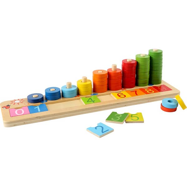 Joc educativ LEGLER Inele colorate LE3405, 3 ani+, lemn, 1 jucator
