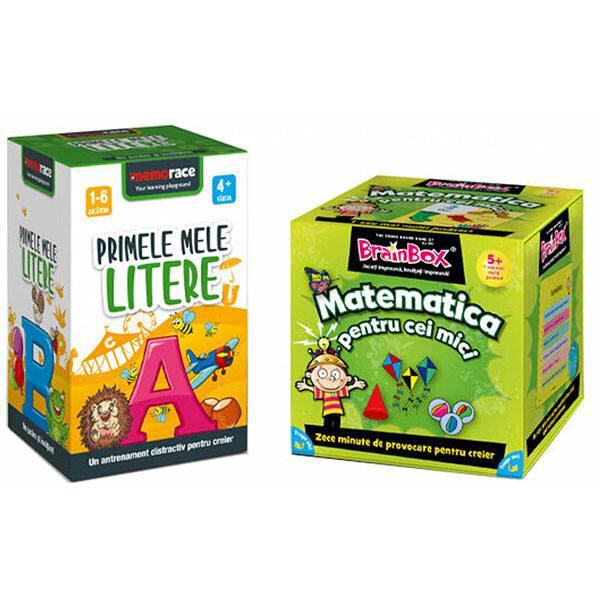 Pachet jocuri educative MEMORACE: Matematica pentru cei mici + Primele mele litere LG0052, 4 ani+, 111 piese