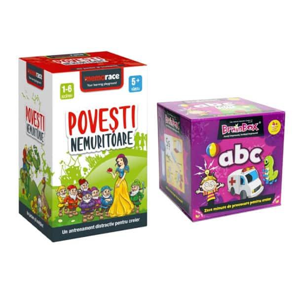 Pachet jocuri educative MEMORACE: ABC + Povesti nemuritoare LG0053, 4 ani+, 111 piese