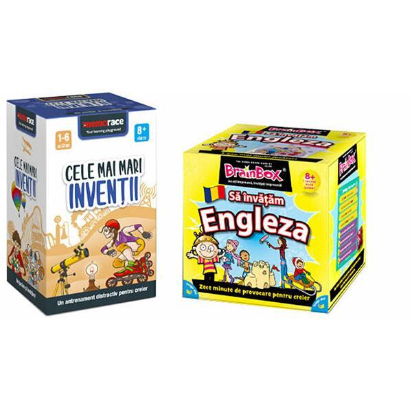 Pachet jocuri educative MEMORACE: Sa invatam engleza + Cele mai mari inventii LG0055, 8 ani+, 126 piese