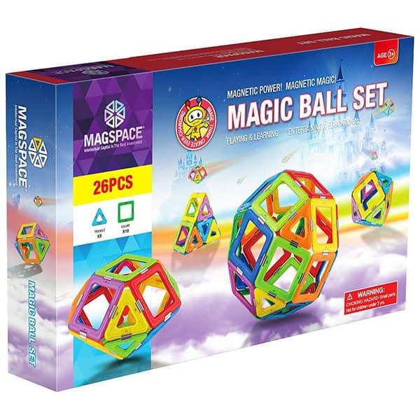 Joc constructie magnetic MAGSPACE Magic Ball, 3 ani +, 26 piese