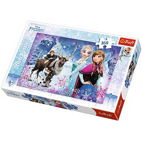 Puzzle TREFL Frozen - Aventuri iarna 15344, 6 ani+, 160 piese