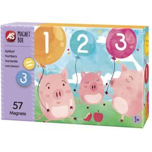 Joc educativ magnetic AS Numerele 1029-64034, 3 ani+, 57 piese