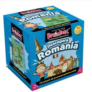 Joc de societate BRAINBOX Descopera Romania BX0032, 7 ani+, 1-6 jucatori