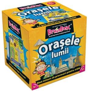 Joc de societate BRAINBOX Orasele Lumii BX0445, 8 ani+, 1-6 jucatori