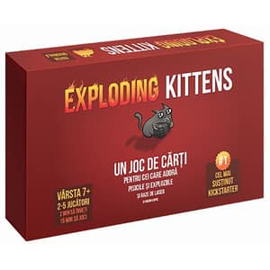 Joc de societate ASMODEE Exploding Kittens EKEK01RO, 7 ani+, 2 - 5 jucatori