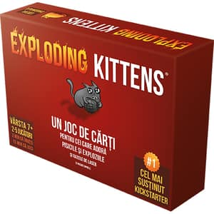 Joc de societate ASMODEE Exploding Kittens EKEK01RO, 7 ani+, 2-5 jucatori