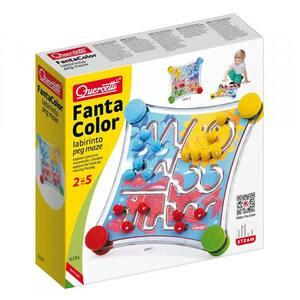 Joc educativ QUERCETTI Labirint Fantacolor Q0295, 2 - 5 ani, 48 piese