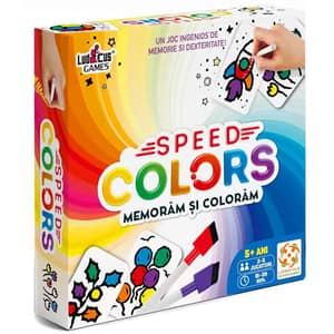 Joc educativ LIFESTYLE Speed Colors: Memoram si coloram LS101, 5 ani+, multicolor