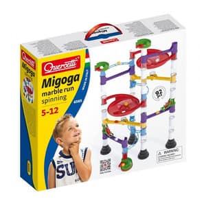Joc constructie QUERCETTI Migoga Marble Run Spinning Q6565, 5 - 12 ani, 92 piese