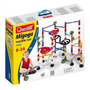 Joc constructie QUERCETTI Migoga Super Marble Run Maxi Q6588, 6 - 14 ani, 213 piese