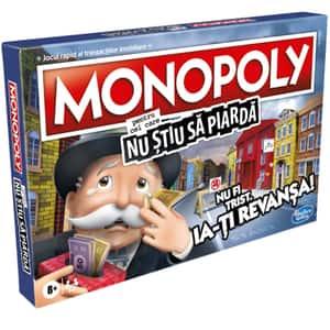 Joc de societate HASBRO Monopoly Pentru cei care nu stiu sa piarda E9972, 8 ani+, 2-6 jucatori