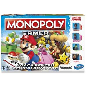 Joc de societate HASBRO Monopoly Gamer C1815, 8 ani+, 2 - 4 jucatori