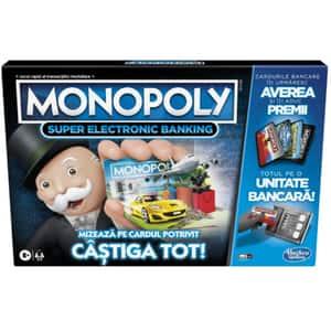 Joc de societate HASBRO Monopoly Super Electronic Banking E8978, 8 ani+, 2-4 jucatori