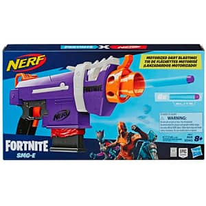 Blaster NERF Fortnite FN SMG E8977, 8 ani+, mov-portocaliu