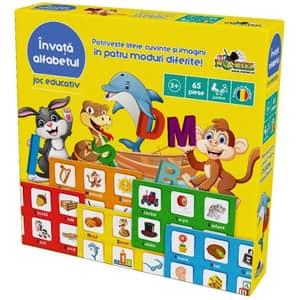 Joc educativ NORIEL Invata alfabetul NOR3768, 3 ani+, 65 piese