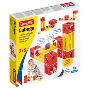 Joc constructie QUERCETTI Circuit cu bile Cuboga Basic Multiway Q6504, 3 - 6 ani, 28 piese