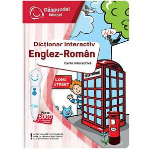 Carte interactiva RASPUNDEL ISTETEL Dictionar roman-englez 28733, 3 ani+, multicolor