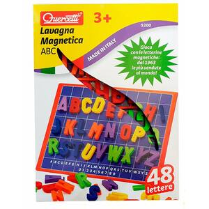 Joc educativ QUERCETTI Tabla magnetica litere mari Q5200, 3 ani+, 48 piese