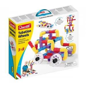 Joc constructie QUERCETTI Tubation Wheels Q4185, 3 - 8 ani, 68 piese