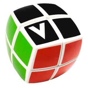 Joc educativ V-CUBE Cub Rubik forma rotunjita CUB0081, 6 ani+, 2x2
