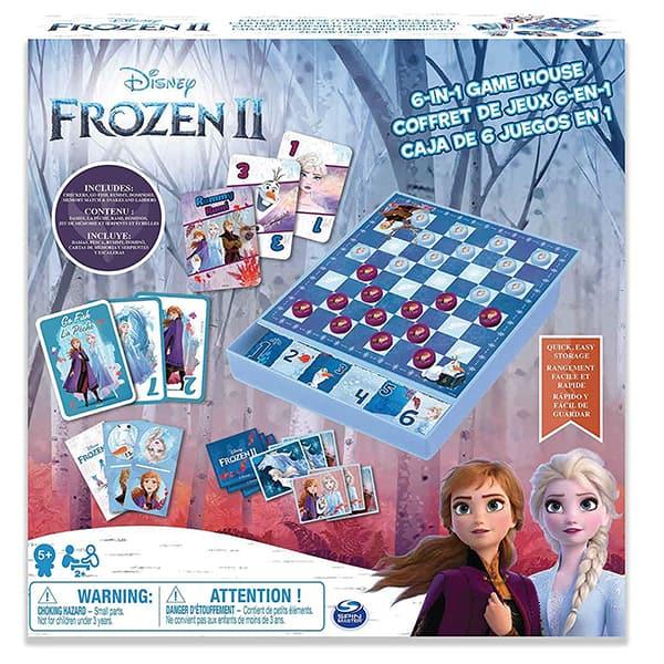 Joc de societate 6 in 1 SPIN MASTER Frozen 2 6053753, 5 ani+, 2 - 4 jucatori