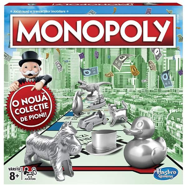 Joc de societate HASBRO Monopoly Clasic C1009, 8 ani+, 2 - 4 jucatori