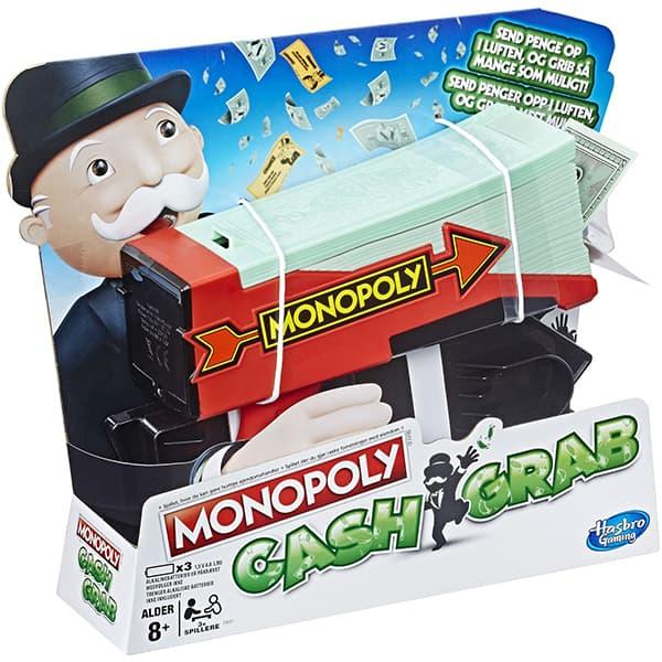 Joc de societate HASBRO Monopoly Cash Grab E3037, 8 ani+, 3 jucatori