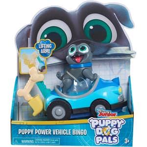 Set figurina cu vehicul PUPPY DOGS Bingo 94210B, 3 ani+, albastru-gri