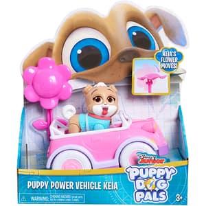 Set figurina cu vehicul PUPPY DOGS Keia 4210K, 3 ani+, roz-alb