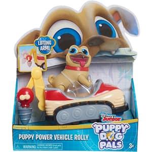 Set figurina cu vehicul PUPPY DOGS Rolly 94210R, 3 ani+, maro-rosu