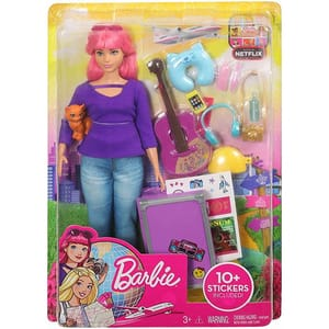 Papusa BARBIE Daisy in vacanta MTFWV26, 3 ani+, multicolor